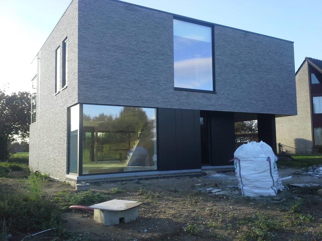 Gevel afwerking van nieuwbouwwoning te Aalst Tony Boel
