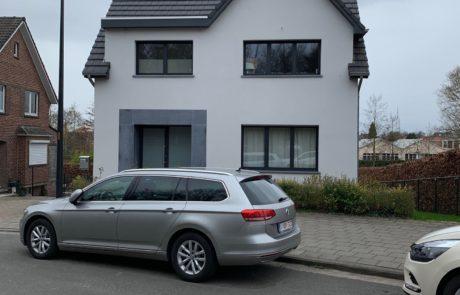 Huis met bepleisterde gevels in Aalst Tony Boel